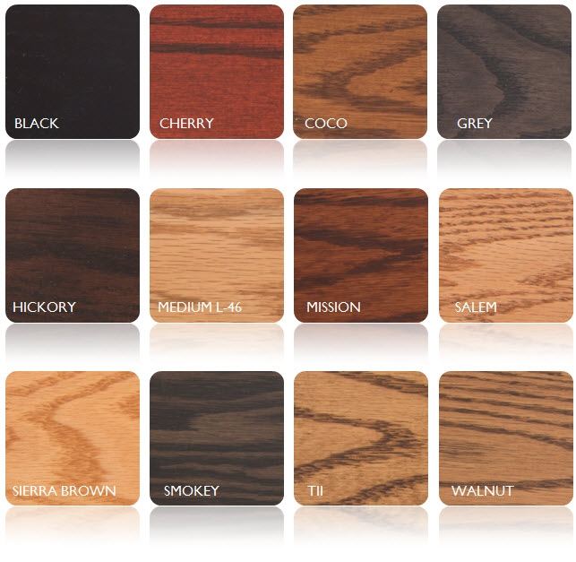 Oak Stain Options