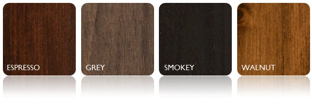 Wormy Maple Stain Options